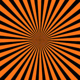 Abstract black and orange color radial blackground for halloween theme concept. Vector illustration Stock Image