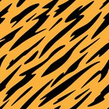 Abstract Black and Orange Stripes Seamless Repeating Pattern Vector Illustration royalty free stock photo