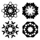 Abstract Black Ornaments Stock Photography