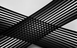 Abstract black panels with copyspace for text. 3D render Stock Photography