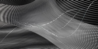 Abstract Black Pattern. Abstract Pattern, diagonal gray crossing shapes on black background. Background design for Hi Tech banner, poster, folder, cover royalty free illustration