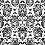 Abstract black patterns of wallpapers. Graceful black patterns on a white background Royalty Free Stock Photo