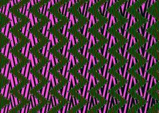 Abstract Black pink green Zigzag pattern. Royalty Free Stock Image