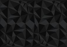 Abstract black polygon pattern background texture vector. Illustration Royalty Free Stock Images