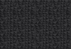 Abstract black polygon pattern background texture vector. Illustration Stock Photography