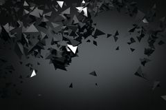 Abstract black polygonal background. Art, creativity concept. 3D Rendering vector illustration