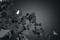 Abstract black polygonal wallpaper. Art, creativity concept. 3D Rendering Stock Photo
