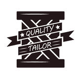 Abstract black quality tailor. Vector illustration of an abstract black colored label with quality tailor lettering Royalty Free Stock Images