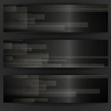 Abstract Black Rectangle Shapes Banner. Royalty Free Stock Photos