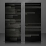 Abstract Black Rectangle Shapes Banner. Stock Photos