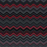 Abstract black, red and grey zig-zag warped. Stripes ethnic seamless pattern background. RGB EPS 10 vector illustration Stock Images