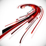 Abstract black and red perspective vector Stock Image
