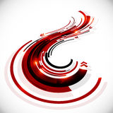 Abstract black and red perspective vector Royalty Free Stock Photography