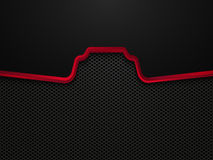 Abstract black and red technology concept design. Vector template background Royalty Free Stock Photos