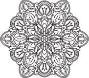 Abstract  black round lace design - mandala, ethnic decora Royalty Free Stock Images