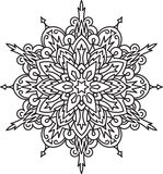 Abstract  black round lace design - mandala, ethnic decora Royalty Free Stock Image