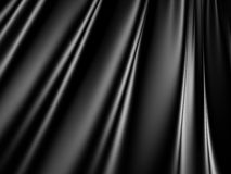 Abstract Black Satin Silk Cloth Waves Background Royalty Free Stock Images