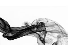 Abstract black smoke Stock Image