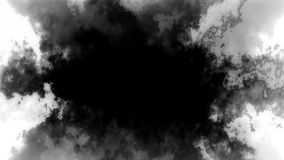 Abstract Black Smoke Cloud Loop over white