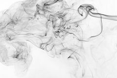 Abstract black smoke Stock Images