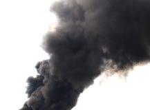 Abstract black smoke. Black smoke on white background Royalty Free Stock Photo