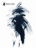 Abstract black splashes. Isolated on white background Stock Photos