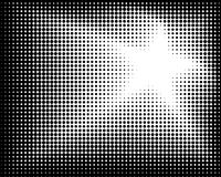 Abstract black spot, halftone, star. Stock Photo