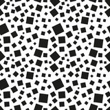 Abstract black squares seamless pattern Royalty Free Stock Photo