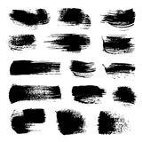 Abstract black strokes of different freeform brush Stock Image