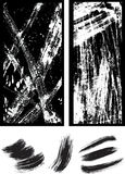 Abstract Black Strokes in a Frame Stock Images