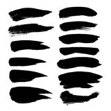 Abstract black strokes set on a white background Royalty Free Stock Photo