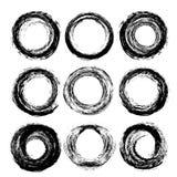 Abstract black textured circle strokes Royalty Free Stock Image
