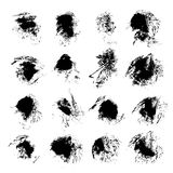 Abstract black textured ink smears Stock Photography
