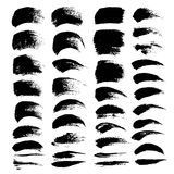 Abstract black textured strokes big set  Stock Images