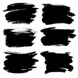 Abstract black thick smear of paint Royalty Free Stock Photo