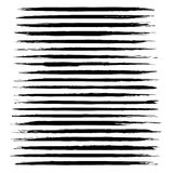 Abstract black thin long smears vector objects Royalty Free Stock Photos