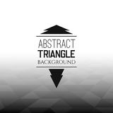 Abstract black triangle field, perspetive pattern. In white fog, geometrical vibrant multicolored vector background illustration Royalty Free Stock Photos