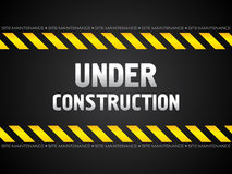Abstract black under construction background. Illustration Royalty Free Stock Images