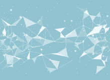 Abstract black vector background, low poly style. Triangular Stock Photography
