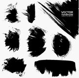 Abstract black vector smears set Royalty Free Stock Images