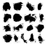 Abstract black vector spots of ink Royalty Free Stock Image