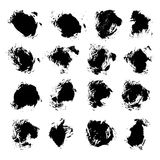 Abstract black vector spots of ink on white Stock Photo
