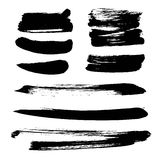 Abstract black vector strokes of ink Stock Images
