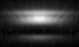 Abstract black wall background with lights. Patterns and concrete texture, 3d illustration vector illustration