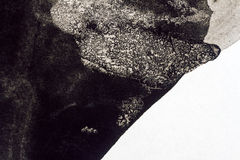 Abstract black watercolor background Stock Photo