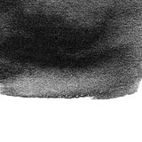 Abstract black watercolor texture. Hand painted ink spot. Black Stock Photos