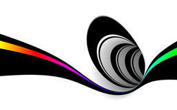 Abstract black and white stock illustration