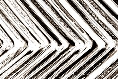 Abstract black and white angle metal Royalty Free Stock Photo