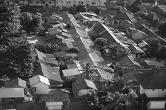 Abstract Black and White Asian House Roof Royalty Free Stock Photos