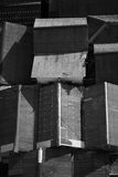 Abstract Black and White Asian House Roof Royalty Free Stock Images